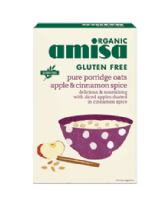 Amisa Organic Gluten Free Apple & Cinnamon Porridge Oats 300g